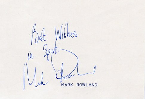 1988 Seoul 3000m Steeplechase Bronze MARK ROWLAND  Autograph