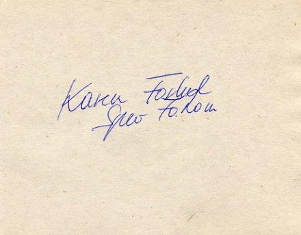 1992 Barcelona Javelin Bronze KAREN FORKEL Autograph