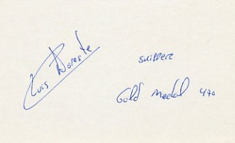 1984 Los Angeles & 1992 Barcelona Yachting Gold LUIS DORESTE Autograph