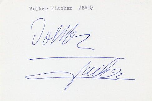 1984 Los Angeles Fencing Gold VOLKER FISCHER Autograph 1981