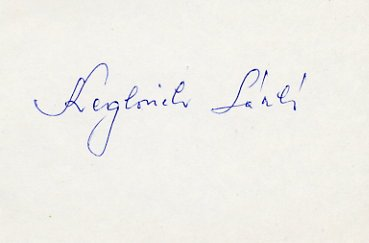 1968 Mexico City Football Gold LASZLO KEGLOVICH Autograph 1980s