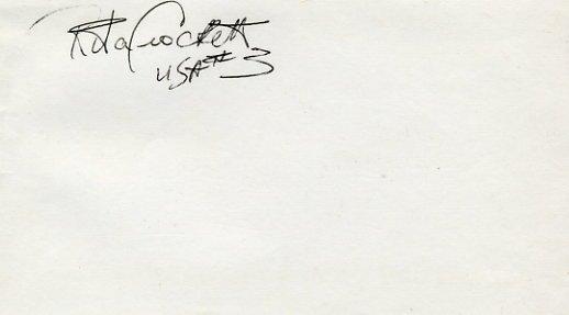 1984 Los Angeles Volleyball Silver RITA CROCKETT Autograph 1980s