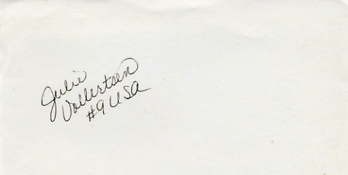 1984 Los Angeles Volleyball Silver JULIE VOLLERTSEN Autograph 1980s