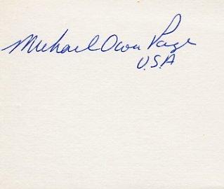 1964 Tokyo & 1968 Mexico City Equestrian Medalist MICHAEL PAGE Autograph
