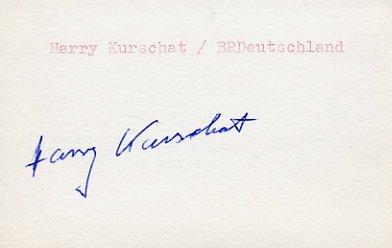 1956 Melbourne Boxing Silver HARRY KURSCHAT Autograph 1980s