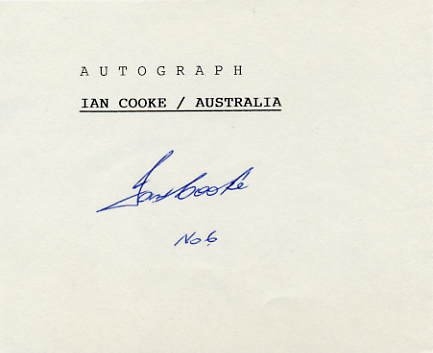1976 Montreal Field Hockey Silver IAN COOKE Autograph