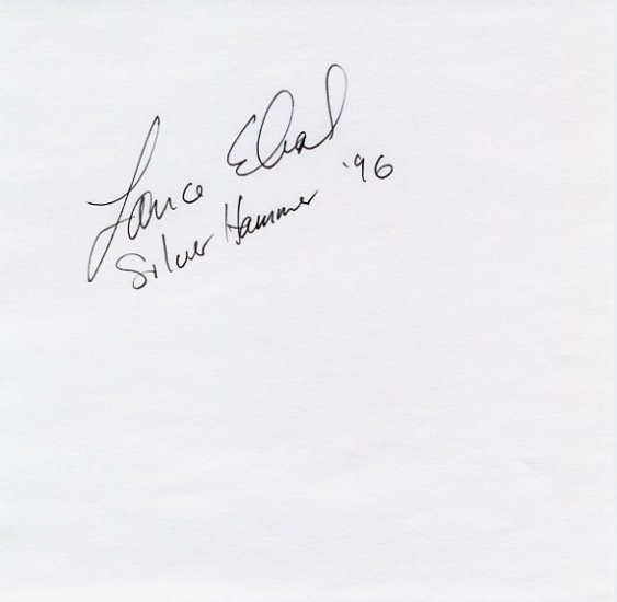 1996 Atlanta Hammer Silver LANCE DEAL Autograph 1996
