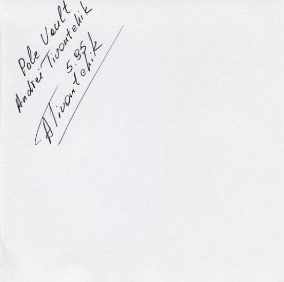 1996 Atlanta Pole Vault Bronze ANDREI TIVONTCHIK Autograph 1996