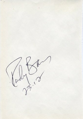 1996 Atlanta Shot Put Gold & WR RANDY BARNES Autograph 1995