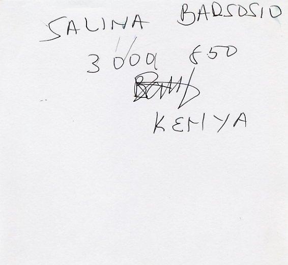 1997  10000m World Champion SALLY BARSOSIO Autograph