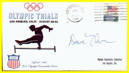 1968 Gymnastics Olympian DAVID THOR Autographed Cover 1968