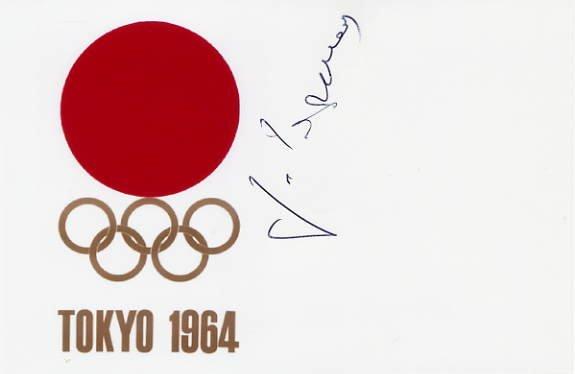 1964 Tokyo Wrestling Silver GURAM SAGARADZE Hand Signed Card 4x6