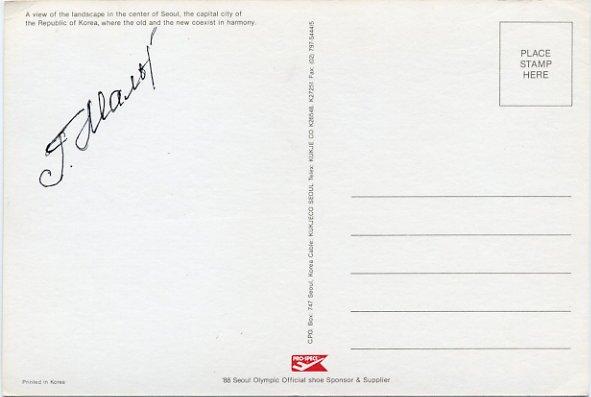 1988 Seoul & 1992 Barcelona 4x100m Relay Medalist GALINA MALCHUGINA Hand Signed Postcard 1988