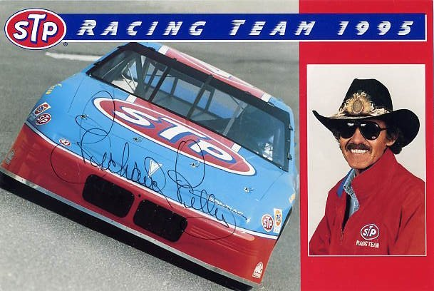 NASCAR Legend Driver RICHARD PETTY Signed Photo 6x9 from 1995