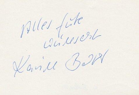 1964 Tokyo 80m Hurdles Gold & WR KARIN BALZER Autograph