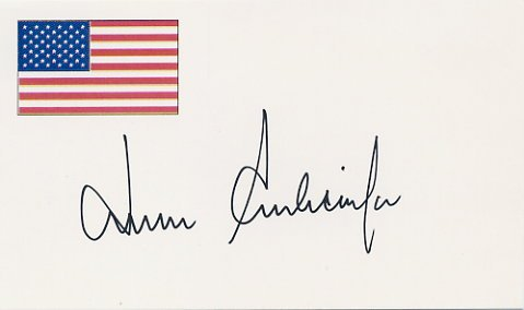 Academy Award Winning Director JOHN SCHLESINGER Hand Signed Card