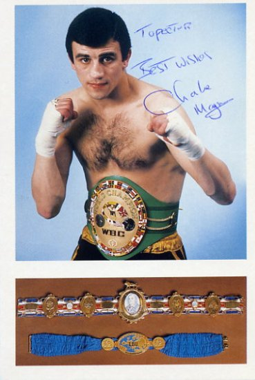 Flyweight Boxing Champ CHARLIE MAGRI Hand Signed Photo