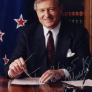 Former Prime Minister of New Zealand JIM BOLGER Hand Signed Photo