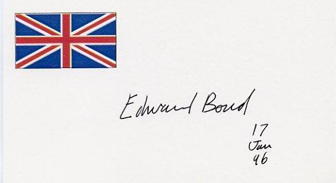 Playwright & Poet EDWARD BOND Hand Signed Card 1996