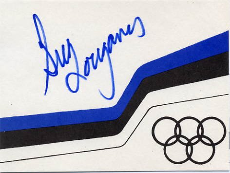 Olympic Diving Legend GREG LOUGANIS Autographed Card 1994