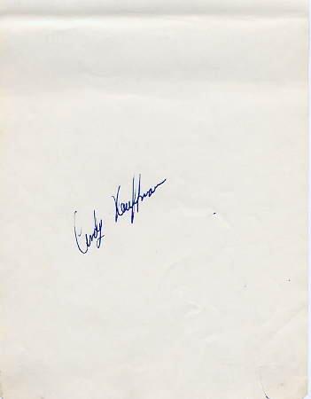 1964 Innsbruck & 1968 Grenoble Figure Skating Olympian CINDY KAUFFMAN Autograph 1968