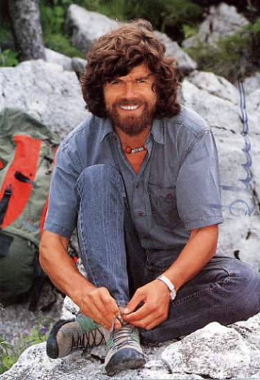 Legendary Mountaineer REINHOLD MESSNER Hand Signed Photo 4x6