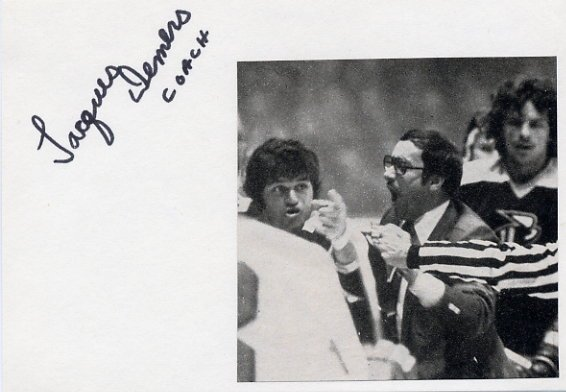 Canadian Hockey Coach JACQUES DEMERS Hand Signed Card 1978