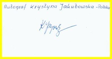 1964 Tokyo & 1968 Mexico City Volleyball Bronze KRYSTYNA JAKUBOWSKA Autograph