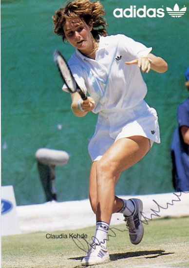 1988 Seoul Tennis Bronze CLAUDIA KOHDE  Hand Signed Photo