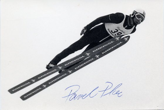 1984 Sarajevo & 1988 Calgary Ski Jumping Medalist PAVEL PLOC Hand Signed Photo 1984
