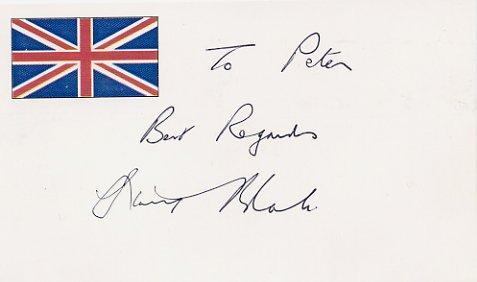 Famous British Bandleader & Composer STANLEY BLACK Autographed Card 1995