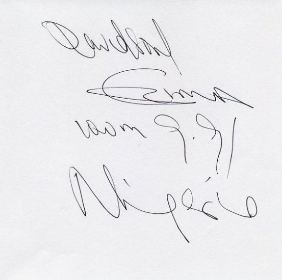 1992 Barcelona 4x100m Relay Silver DAVIDSON EZINWA Autograph
