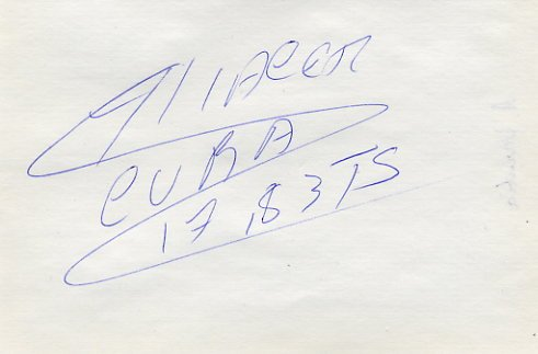 1997 World Triple Jump Bronze ALIECER URRUTIA Autograph