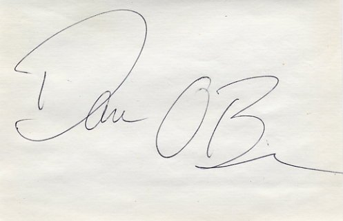 1996 Atlanta Decathlon Gold DAN O'BRIEN Autograph 1995