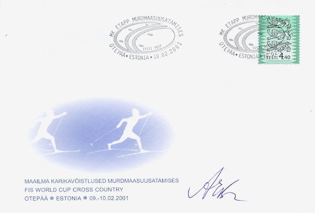 1968 Grenoble Cross Country Skiing Bronze RITA ACHKINA Hand Signed FDC