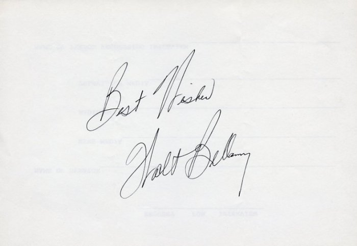 1960 Rome Basketball Gold WALTER BELLAMY Autograph 1980s