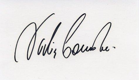 Legendary Olympic Gymnast NADIA COMANECI Hand Signed Card