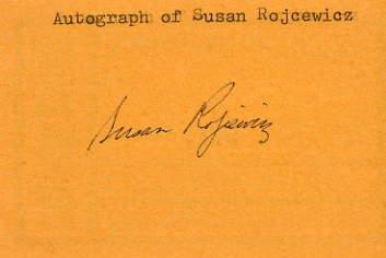 1976 Montreal Basketball Silver SUE ROJCEWICZ Autograph 1970s