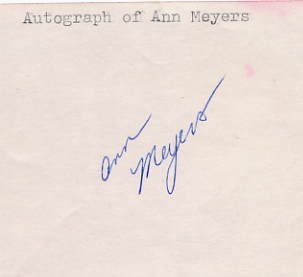 1976 Montreal Basketball Silver ANN MEYERS Autograph 1970s