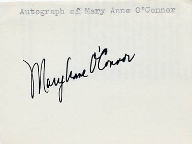 1976 Montreal Basketball Silver MARY ANNE O'CONNOR  Autograph 1970s