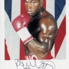 Heavyweight Boxing Champion FRANK BRUNO Hand Signed Photo 4x6