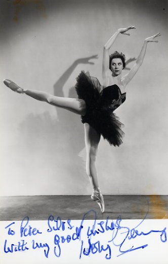 """Swan Lake"" - Ballerina Dame BERYL GREY  Hand Signed Photo"