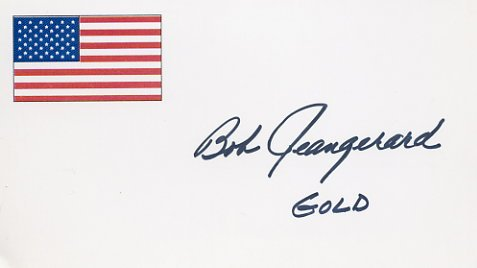 1956 Melbourne Basketball Gold ROBERT JEANGERARD Hand Signed Card