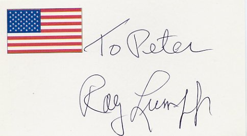 1948 London Basketball Gold & NBA RAY LUMPP  Autographed Card