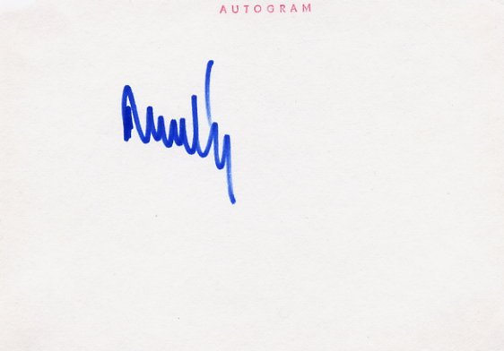 Czech Ice Hockey Coach STANISLAV NEVESELY  Autographed Card 1980s