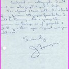1956 Melbourne Canadian 200m Olympian JOSEPH FOREMAN Autograph Letter Signed 1958