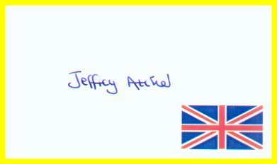 British Author JEFFREY ARCHER Hand Signed Card 1995
