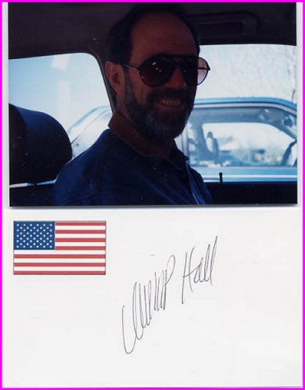 Waterbed Inventor CHARLES P HALL Hand Signed Card 1996 & Pict