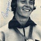 1968 Mexico City Pentathlon Gold INGRID BECKER Autographed Picture 1970s