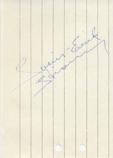 1968 Grenoble & 1972 Sapporo Speed Skating Olympian SVEIN-ERIK STIANSEN Autograph 1968
